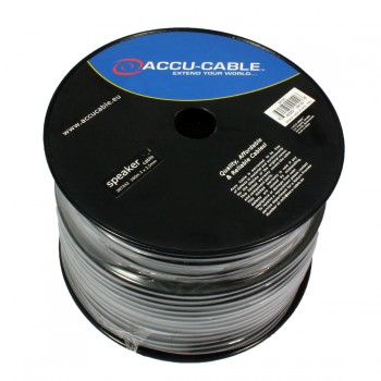 Accu-Cable 100 meter Højtaler kabel 2x2,5mm²/round Sort