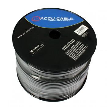Accu-Cable 100 meter Højtaler kabel 2x2,5mm²/round Sort