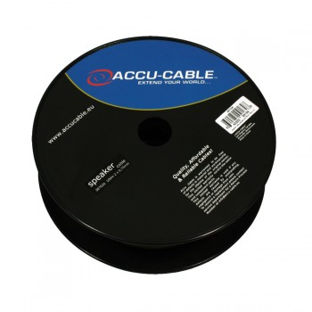 Accu-Cable 100 meter Højtaler kabel 2x0,75mm²/flat Transparent