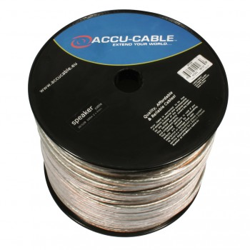 Accu-Cable 100 meter Højtaler kabel 2x4mm²/Rund Transparent
