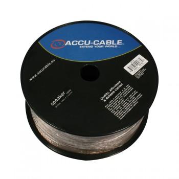 Accu-Cable 100 meter Højtaler kabel 2x2,5mm²/flat Transparent