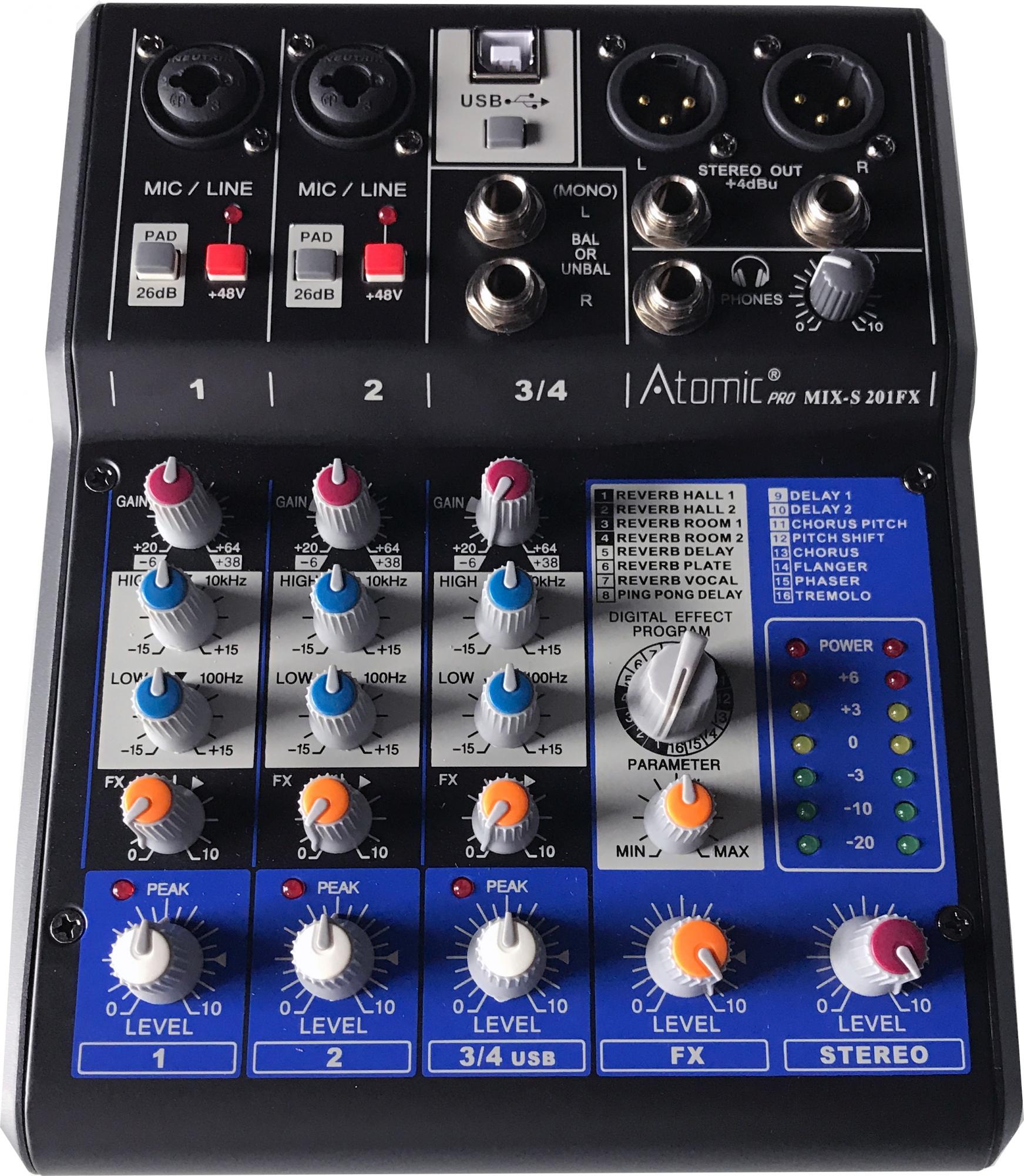 Atomic Mixer 201 (4 kanaler)