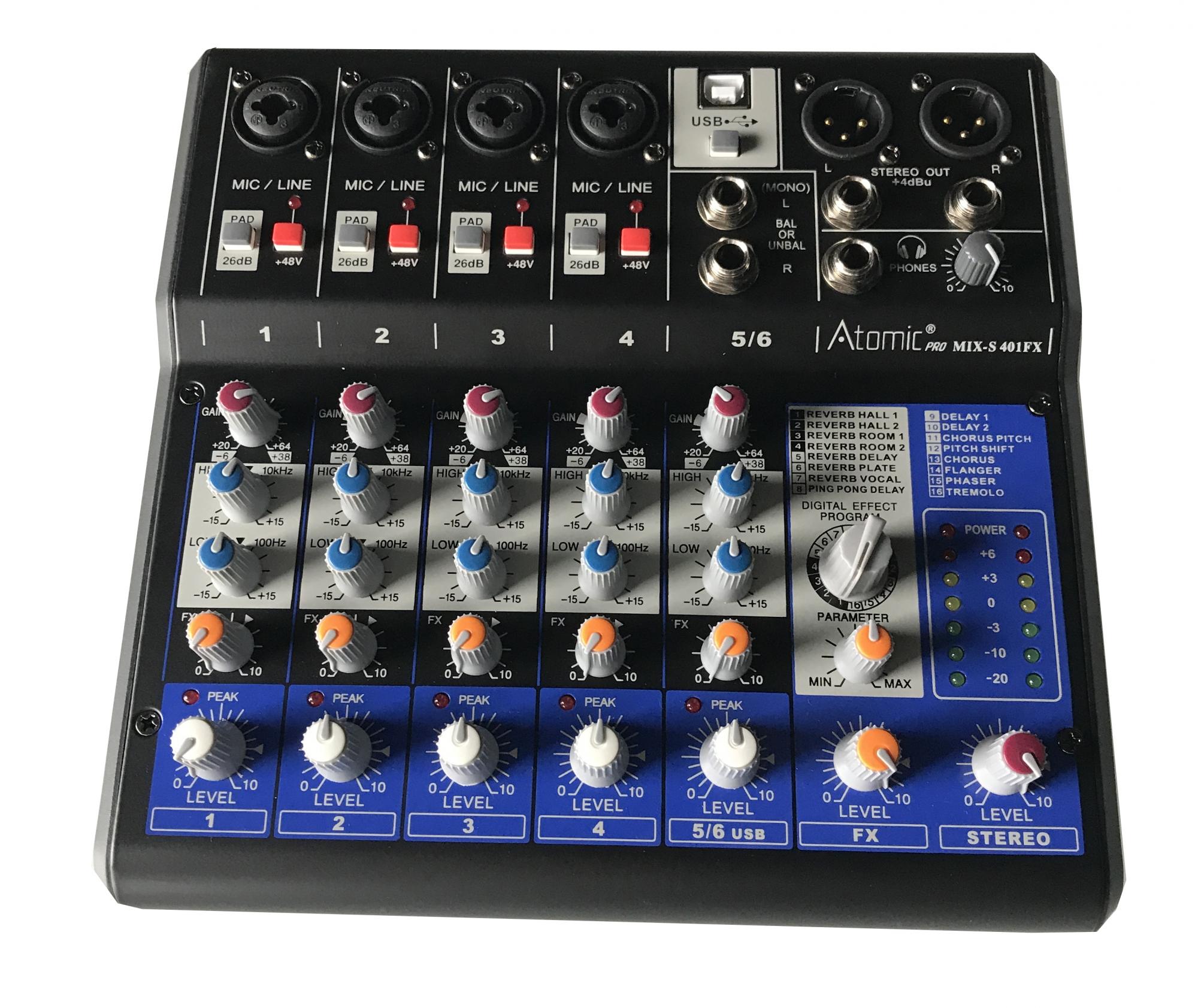 Atomic Mixer 401 (6 kanaler)
