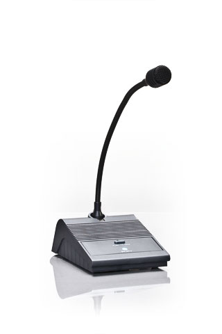 RCF svanehals mikrofon desktop m/afbryder XLR