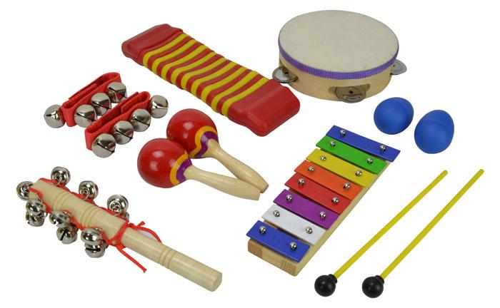 Børne percussion sæt med 7 dele