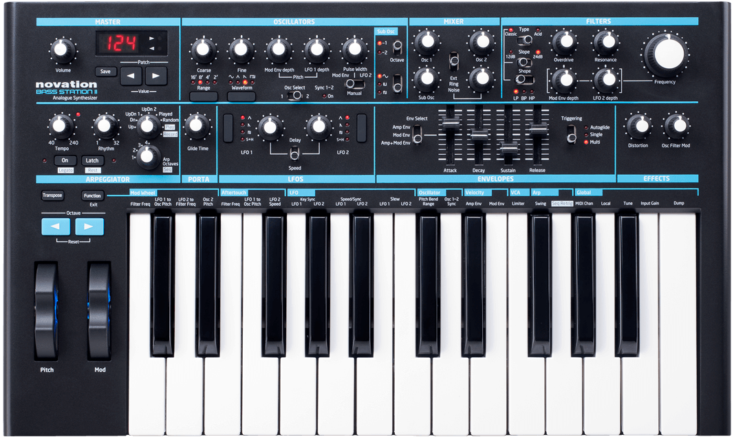 Novation synthesizer