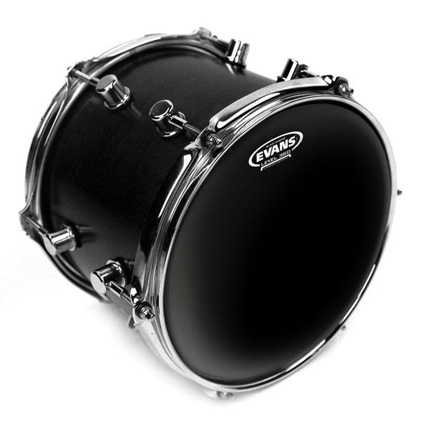 """Evans Trommeskind 10"""" Black Chrome"""