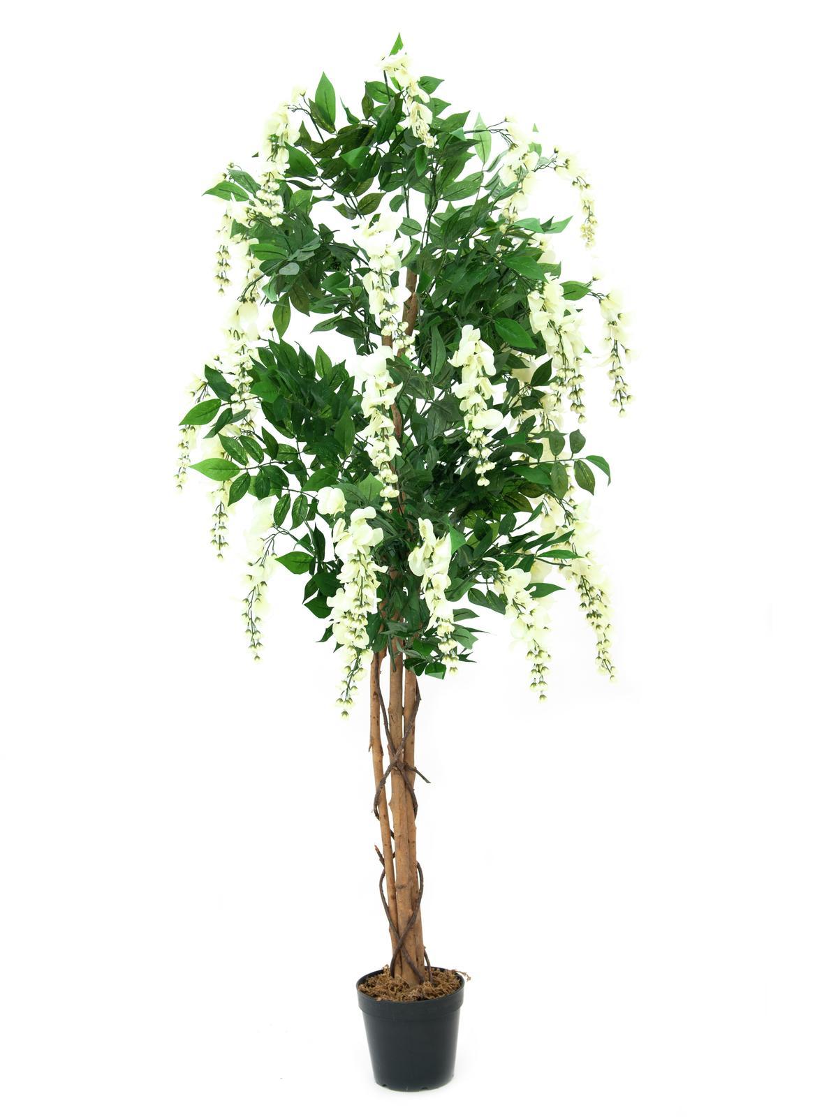 Image of   Kunstig Hvid blåregn træ, 150 cm