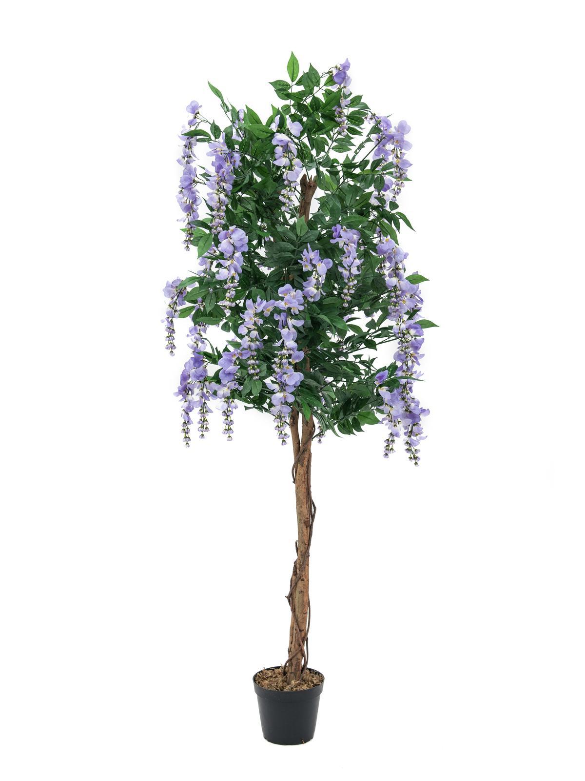 Image of   Kunstig Lilla blåregn træ, 150 cm