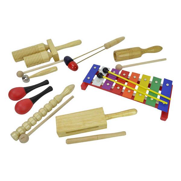 Børne percussion sæt med 8 dele