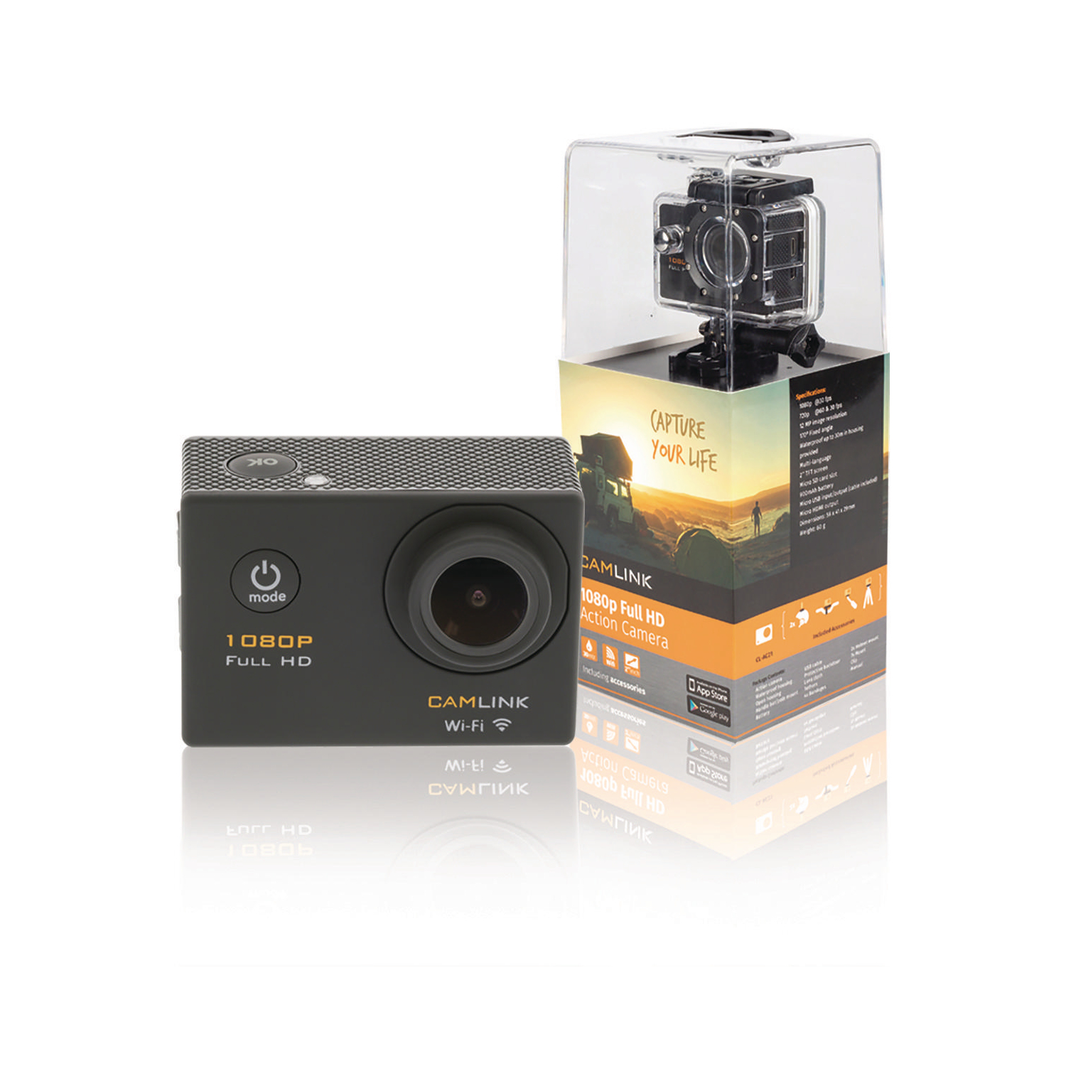 Image of   Full Hd Action Camera 1080p Wi-Fi Sort