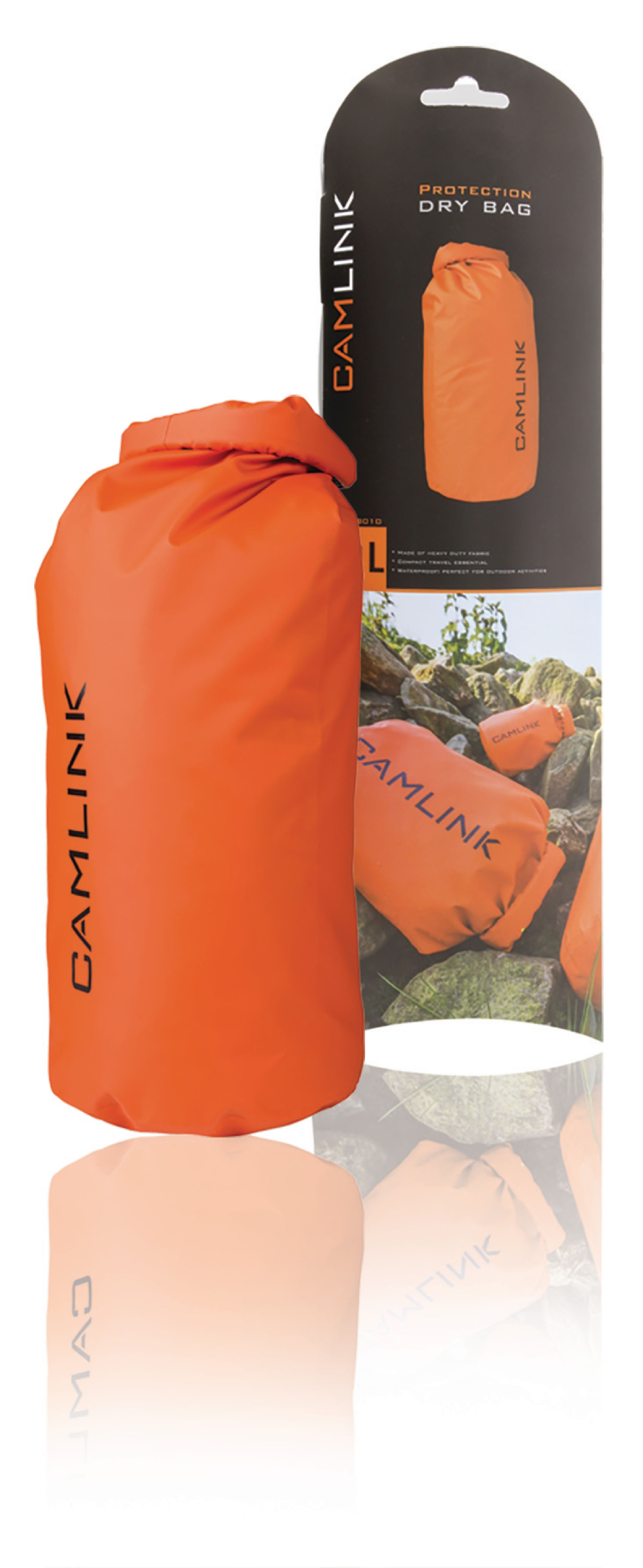 Outdoor Dry Bag Orange/Sort 10 l