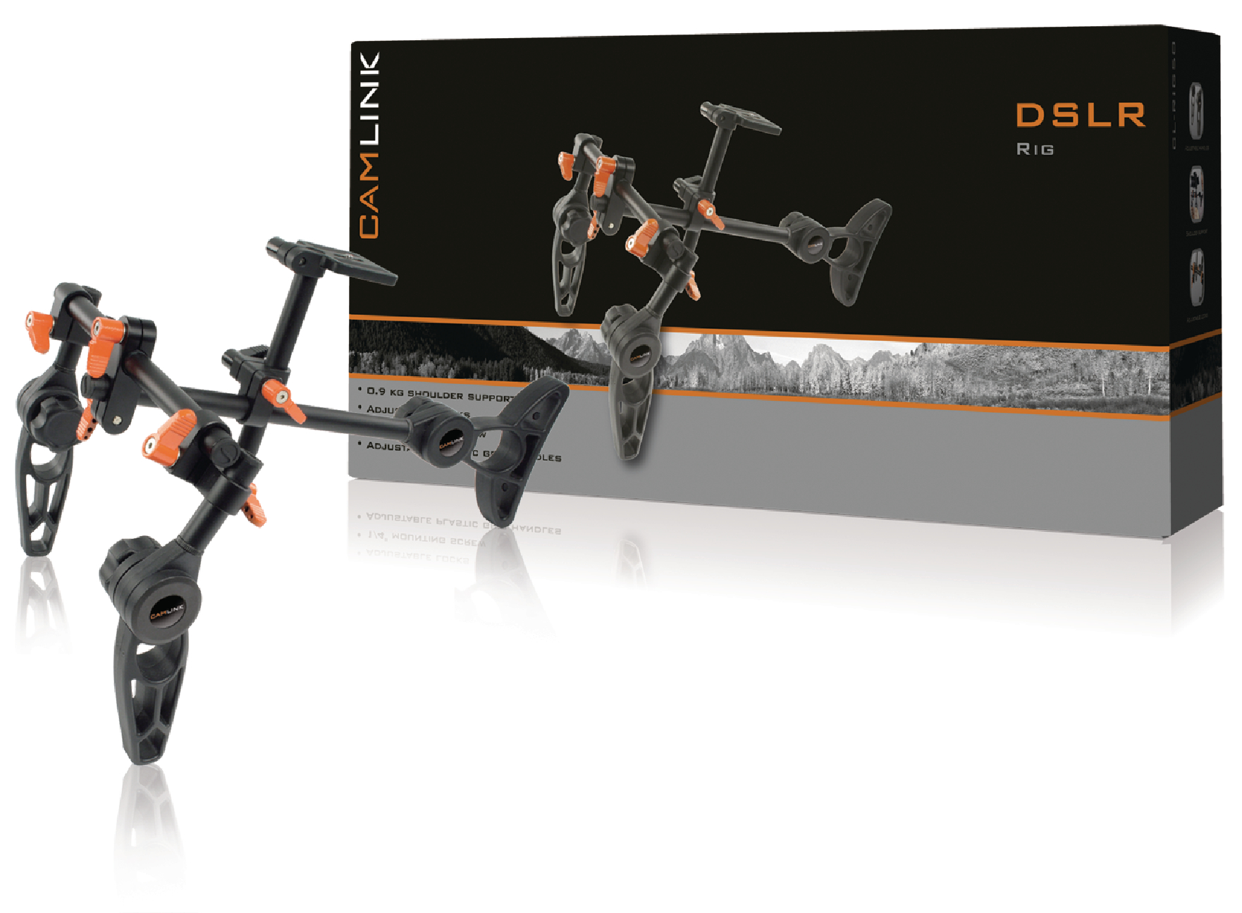Kamera/Video Rig 0.9 kg Sort/Orange