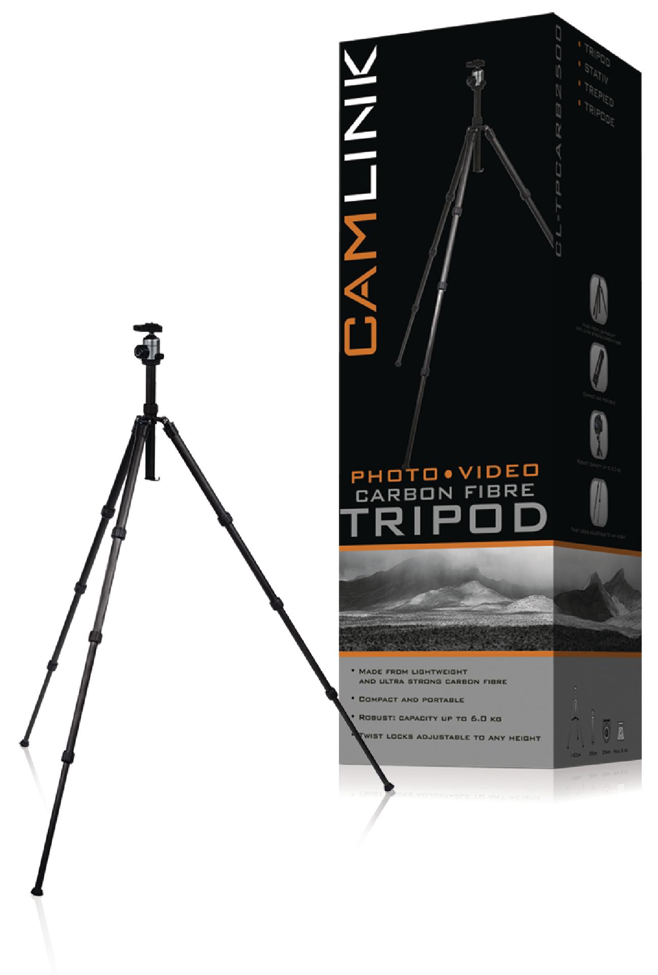 Image of   Kamera/video stativ hoved 134 cm. sort