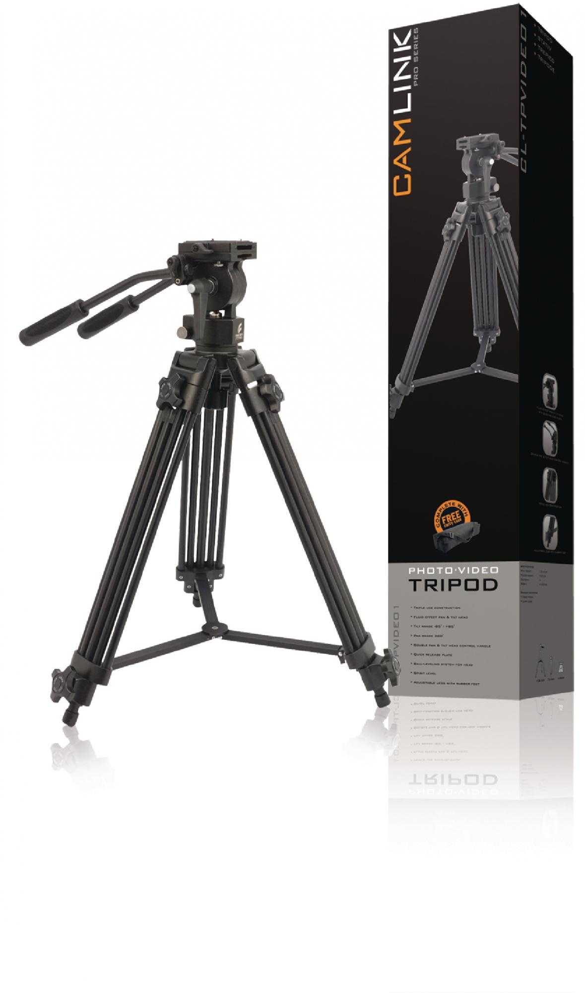 Image of   Professional video stativ vipbar, 138 cm. sort