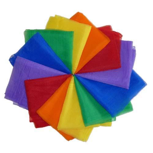 Billede af Trommus, Chiffontørklæder, 12 stk. i samme farve Gul