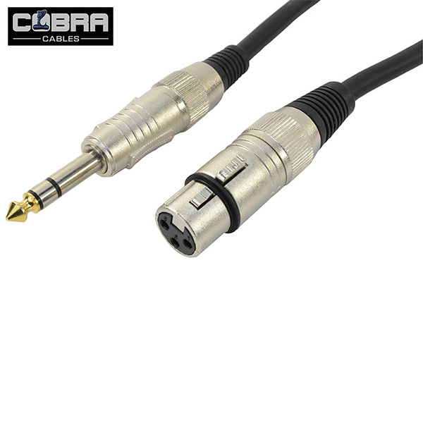 Cobra XLR Hun til 6.3 mm Jack stereo 1,5 meter
