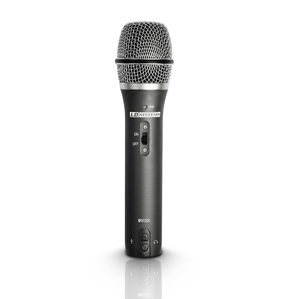 Image of   LD Systems D 1 USB USB / XLR Vokal Mikrofon med hovedtelefon udgang