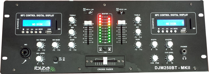 Image of   Ibiza Multi Mixer DJM250BT-MKII