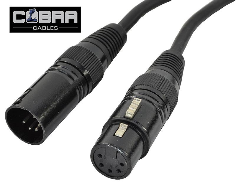 DMX Kabel XLR Han 5 Pol til XLR Hun 5 Pol 10 meter