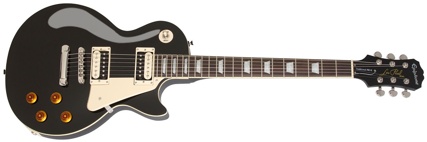 Image of   Epiphone Les Paul Traditional PRO-II, Ebony
