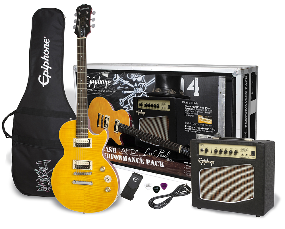 "Image of   Epiphone Slash ""AFD"" Les Paul Special-II CF, Performance Pack"