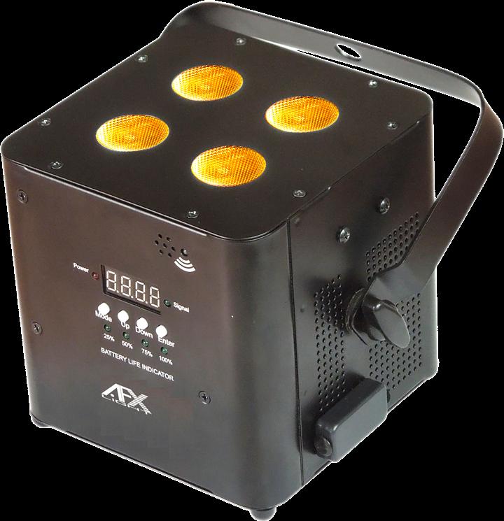 AFX FreePar Hex Trådløs batteri lampe Sort