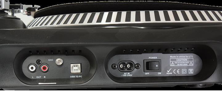 Ibiza pladespiller med USB / SD-kort optager → Køb BILLIGT her