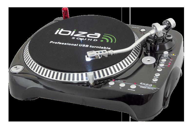 Ibiza pladespiller med USB / SD-kort optager → Køb på tilbud hos SoundStoreXL.com