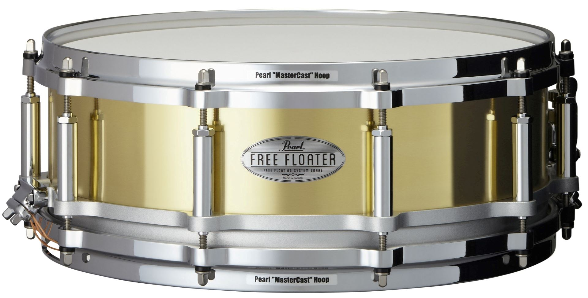 "Pearl 14x5"" Free Floating Brass lilletromme"