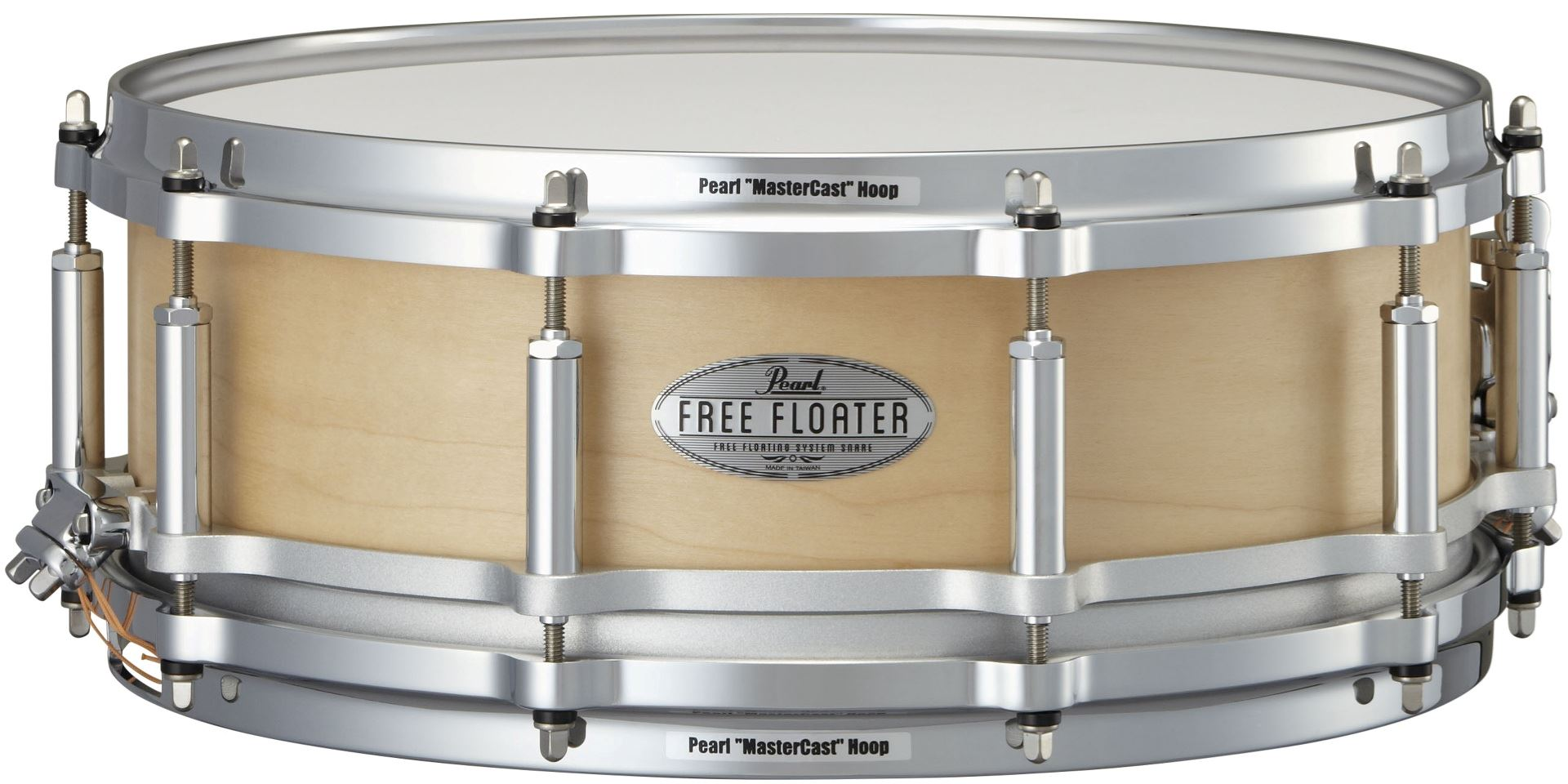 "Pearl 14x5"" Free Floating Maple lilletromme"