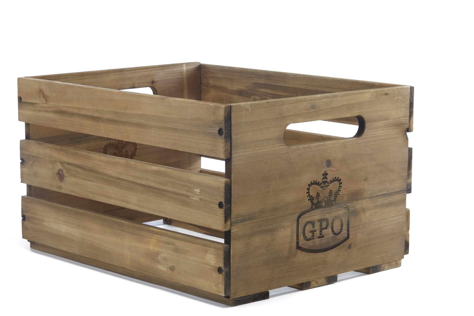 GPO CASSA opbevaringskasse i træ