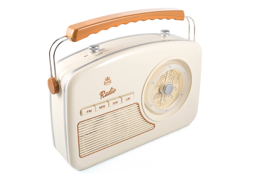 Image of   GPO Rydell 4 band radio, creme