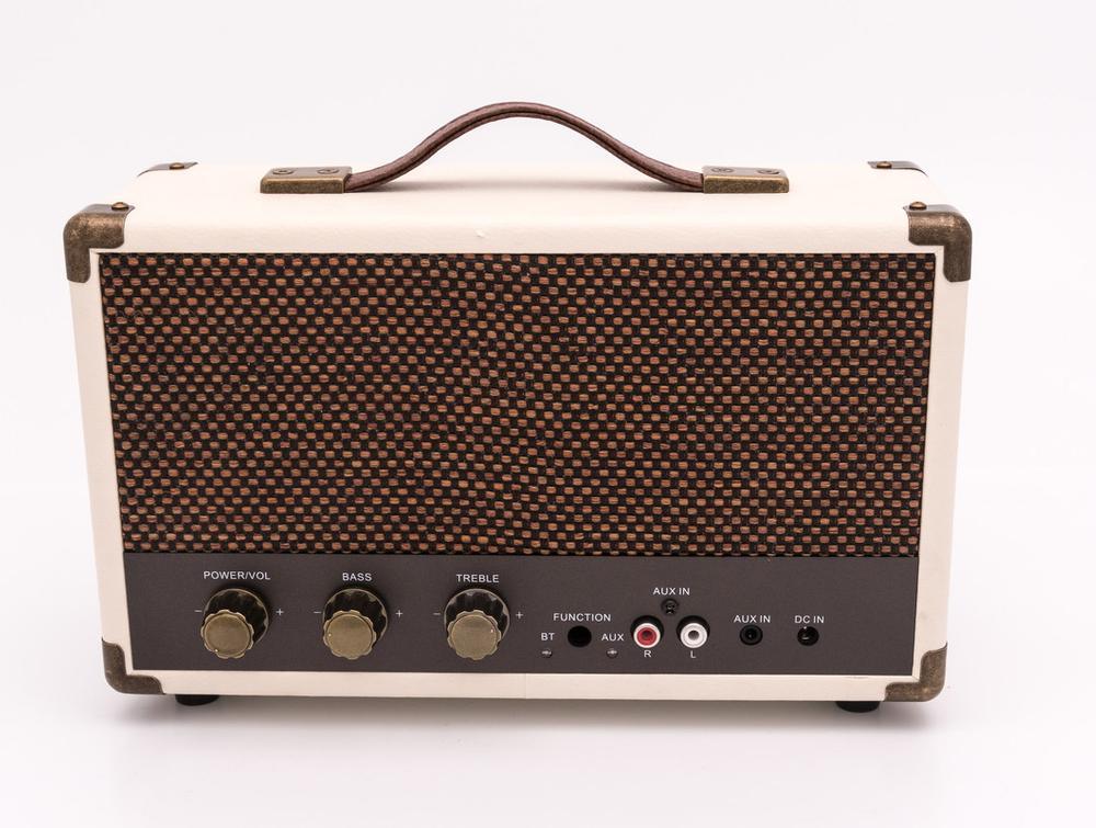 Image of   GPO WESTWOOD Bluetooth højttaler Hvid/Brun