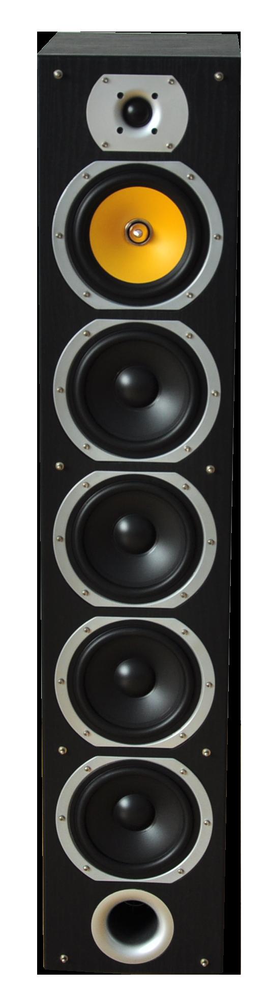 Image of   HiFi 4-vejs højttalersæt, 440W Sort