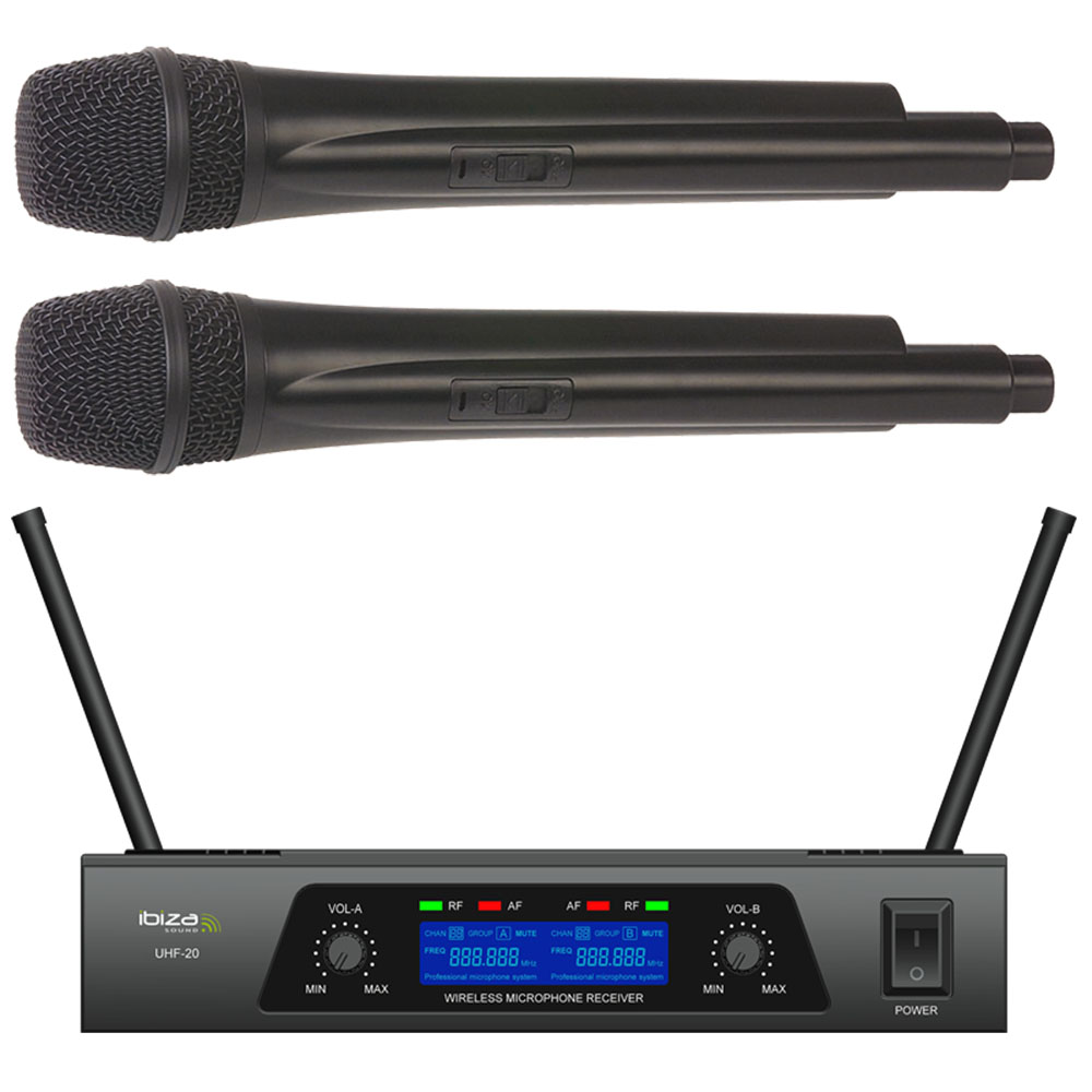 Image of   Ibiza 2 kanals trådløst mikrofonsystem