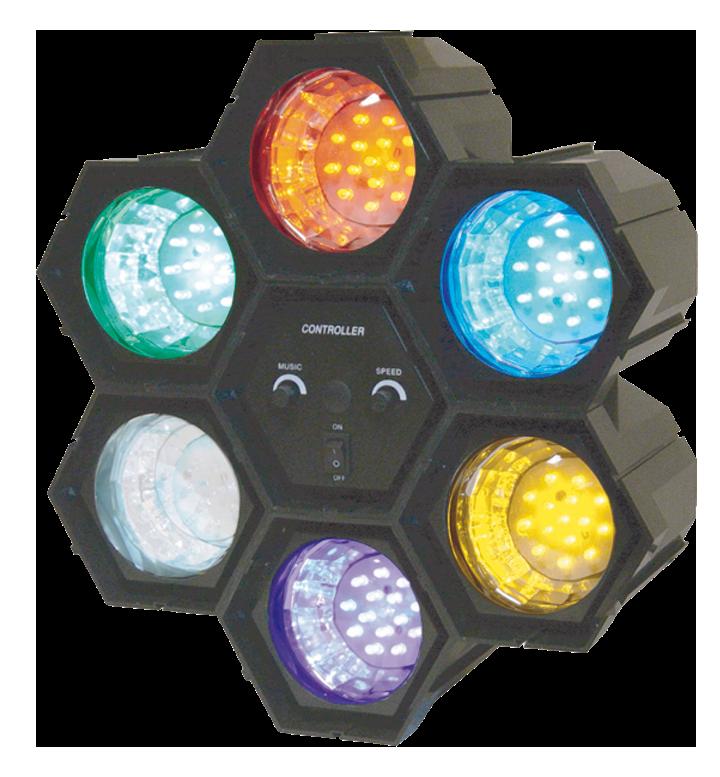 Image of   Ibiza LED Partylys i seks farver