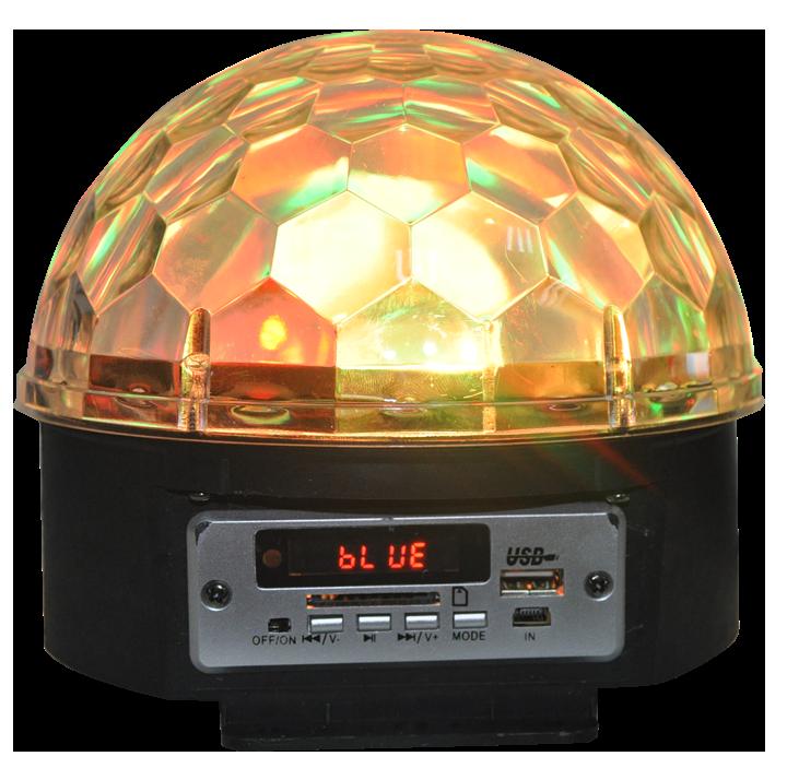 Ibiza Astro 5 lyseffekt med højttaler og bluetooth