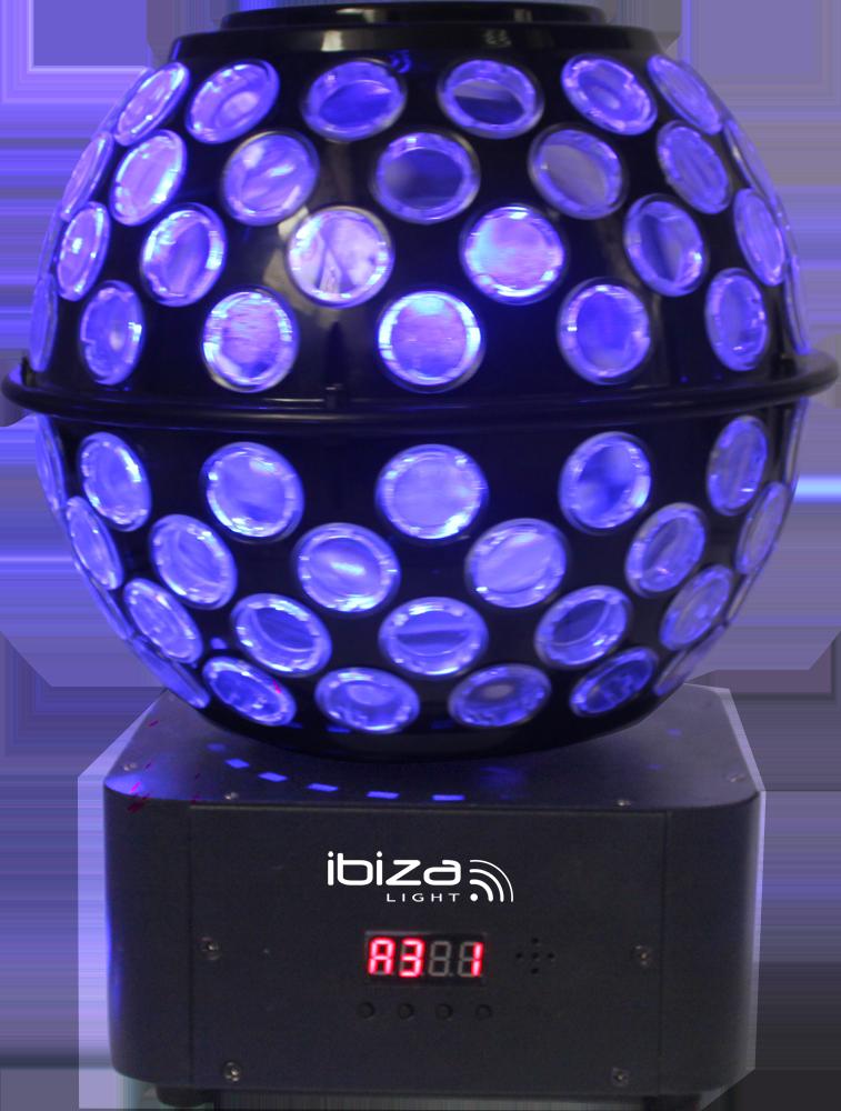 Image of   Ibiza Diskokugle med multifarvet lys