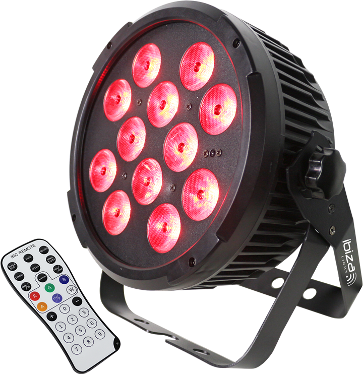 Image of   Ibiza LED spot 12x12W RGBWA+UV 6-in-1
