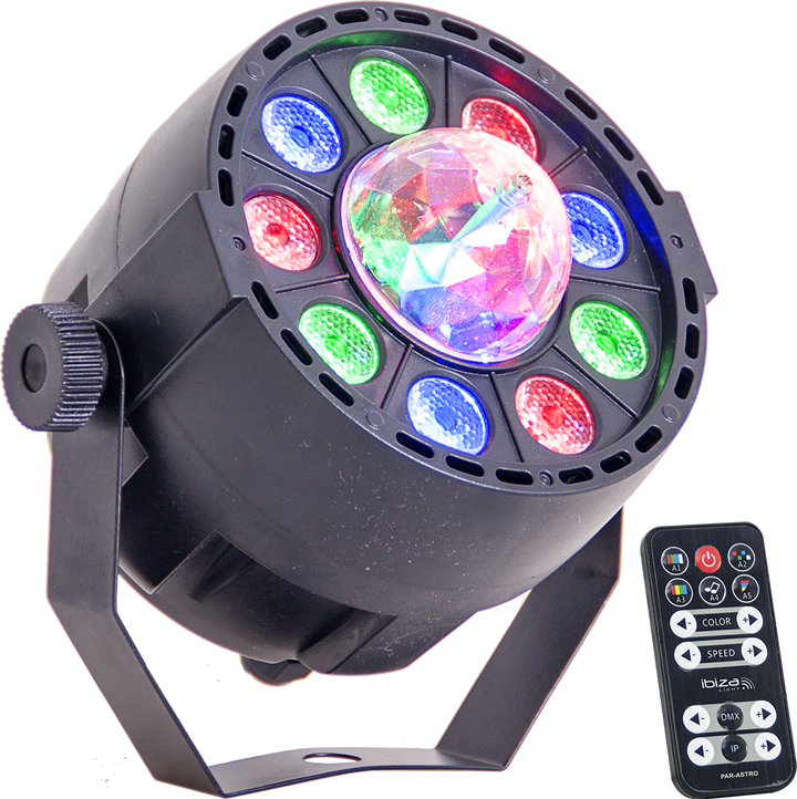 Ibiza Light 2-i-1 lyseffekt, PAR lampe og astro effekt