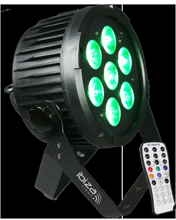 Image of   Ibiza Light 7x12W LED DMX RGBWA-UV PAR lampe