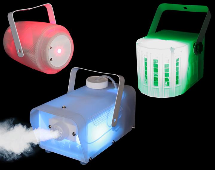 Ibiza Light sæt med tre gennemsigtige lyseffekter