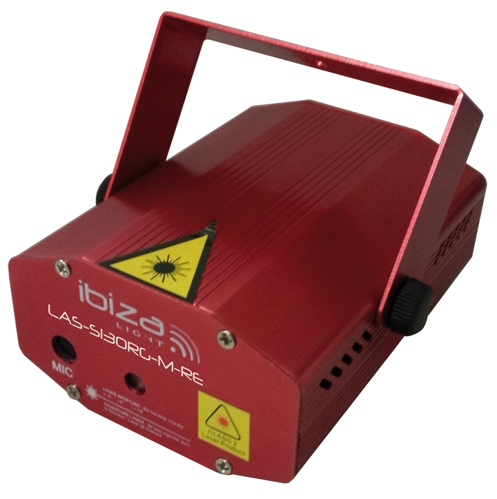 Ibiza Mini Firefly laser Rød