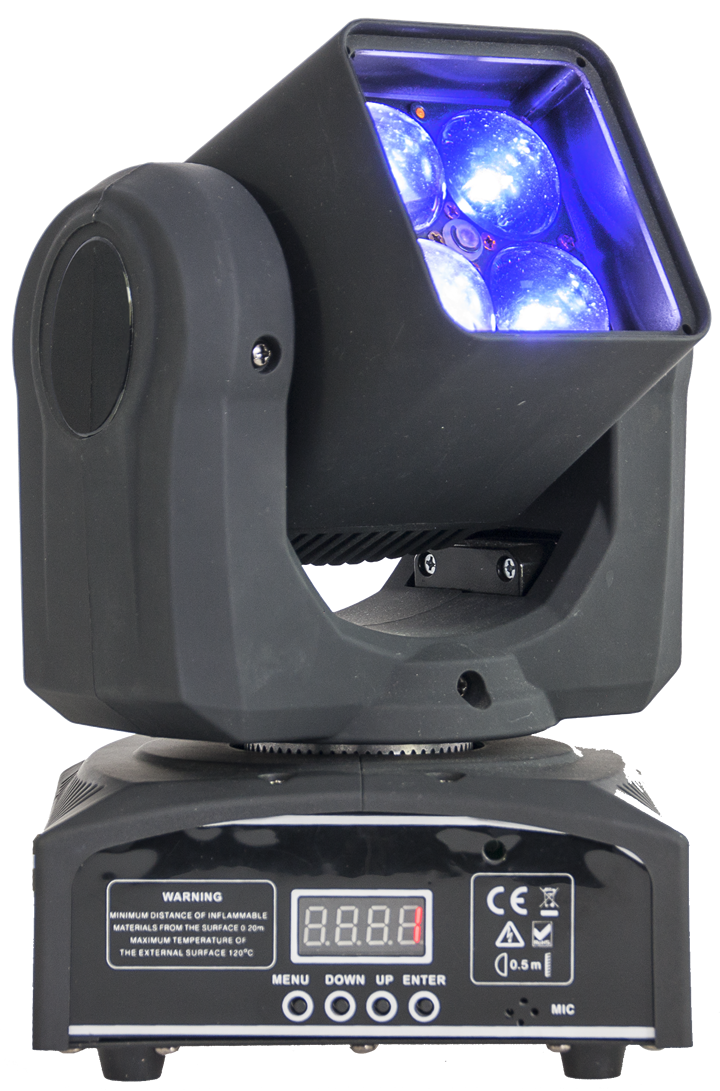 Image of   Ibiza RGBW LED moving head 4 x 10 watt