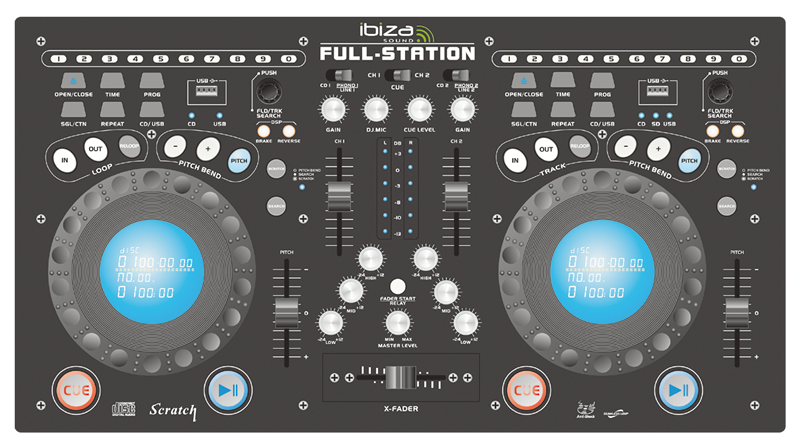 "Ibiza Sound Professionel ""Full-Station"" mixer Sort"