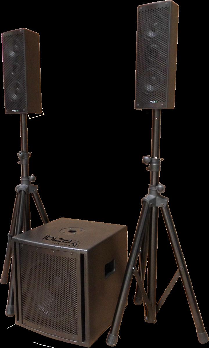 Ibiza Triphonic lydsystem 2.1, 800W
