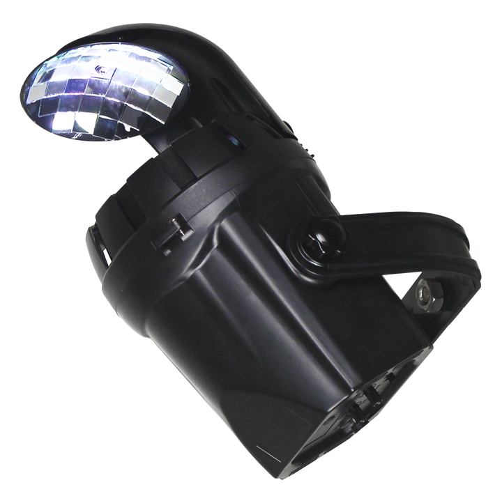 Ibiza light 2-i-1 disko effekt med 10W hvid LED