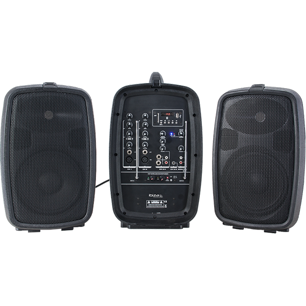 "Image of   Ibiza sound kompakt transportabel 8"" højttalersystem, 150W"
