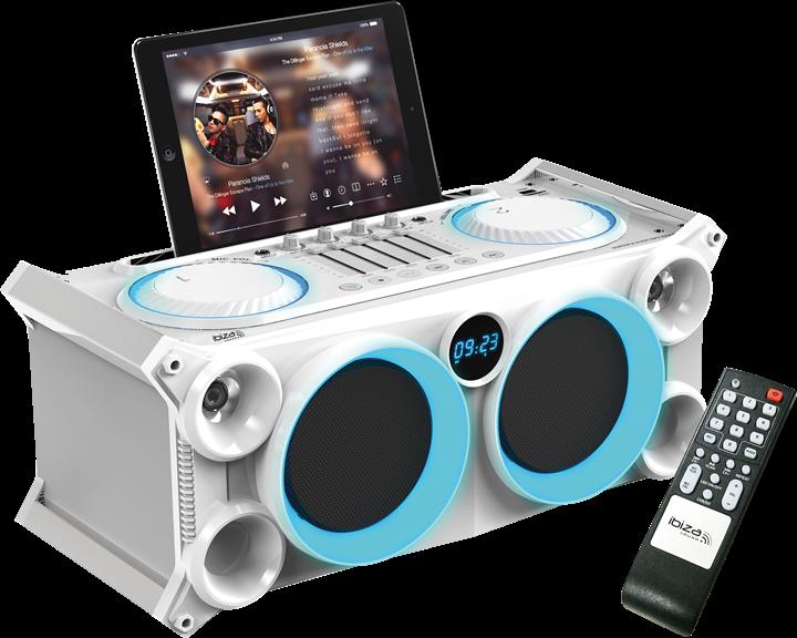 Image of   Ibiza sound transportabelt stand-alone lydsystem Hvid